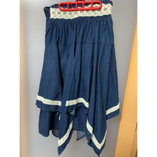 アクシーズファム(axes femme)のアクシーズファム デニムスカート(ひざ丈スカート)