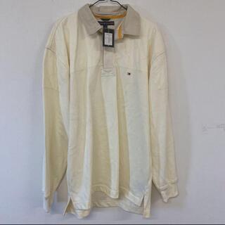 トミーヒルフィガー(TOMMY HILFIGER)の♪TOMMY HILFIGER トミーフィルガー ポロシャツ ベージュ  F7(ポロシャツ)