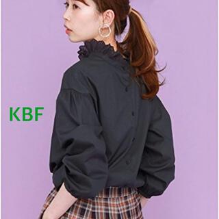 ケービーエフ(KBF)のKBF WEB限定 2wayレースカラーシャツ ネイビー(シャツ/ブラウス(長袖/七分))