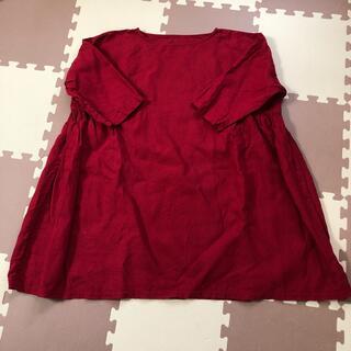 nest Robe - 🟢予約専用品🟢 nest robe リネン サイドギャザーチュニック