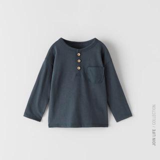 ZARA KIDS - 新品タグ付き ZARA baby ヘンリーネックTシャツ 104