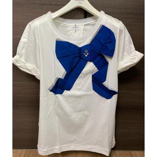 ランバンオンブルー(LANVIN en Bleu)の新品未使用 タグ付き ランバンオンブルー Tシャツ 半袖 38サイズ(Tシャツ(半袖/袖なし))