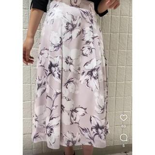 MISCH MASCH - ミッシュマッシュ カラーラインフラワースカート