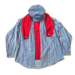 コムデギャルソン(COMME des GARCONS)のGETEMONTS コーデュロイ・ヴェスト・ドッキング・シャツ 愚者のシャツ(シャツ)