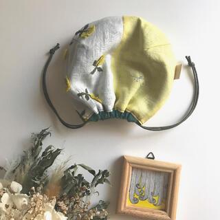 ミナペルホネン(mina perhonen)のしじみ巾着S*sky×choucho*minaperhonen fabric(ポーチ)