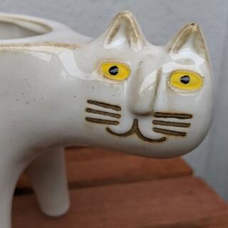 ブサイク猫のプランター 底穴あり 新品 白 ミニマフラーセット(プランター)