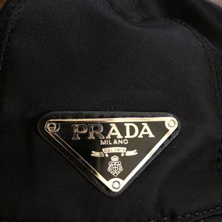 PRADA - PRADA プラダ ロゴ キャップ ブラック 黒 帽子 ハット
