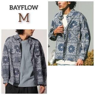 BAYFLOW - 新品 BAYFLOW ベイフロー パッチワーク ペイズリー シャツ トップス