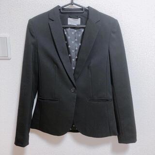 エイチアンドエム(H&M)のテーラードジャケット ブラック(テーラードジャケット)