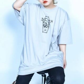 ミルクボーイ(MILKBOY)の【値下げ】KRY 「 SICK 」 ビッグTシャツ 半袖 グレー(Tシャツ(半袖/袖なし))