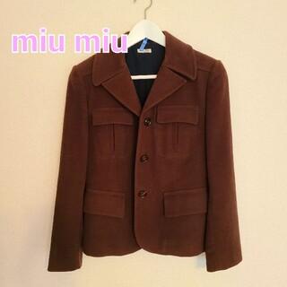 ミュウミュウ(miumiu)のMIU MIUミュウミュウ 3つボタンジャケット size38(テーラードジャケット)