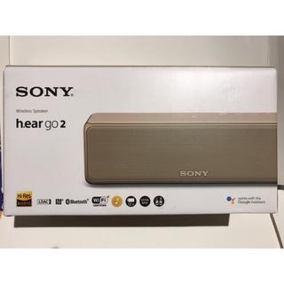 ソニー(SONY)のソニーSRS-HG10 N ゴールドBluetoothスピーカー  ハイレゾ対応(スピーカー)