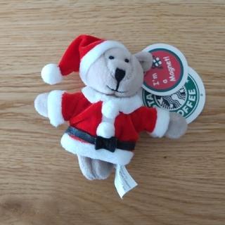 Starbucks Coffee - スターバックス くま マグネット サンタ