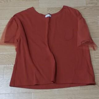 アースミュージックアンドエコロジー(earth music & ecology)のチュールが可愛いTシャツ♪(Tシャツ(半袖/袖なし))