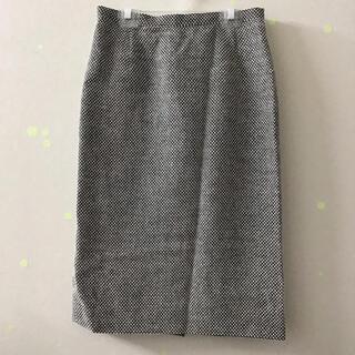 ランバン(LANVIN)のランバン LANVIN レディース 膝丈スカート 白系 38 M(ひざ丈スカート)