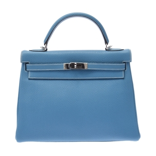 エルメス(Hermes)のエルメス ケリー 32 2WAYバッグ 内縫い ハンドバッグ ブルージーン(ハンドバッグ)