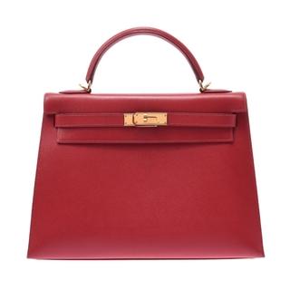 エルメス(Hermes)のエルメス ケリー 32 外縫い 2WAY ハンドバッグ ルージュビフ(赤)(ハンドバッグ)