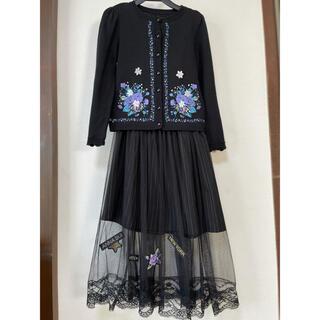 アナスイミニ(ANNA SUI mini)の美品❣️ANNA sui miniカーディガン&スカート(ワンピース)