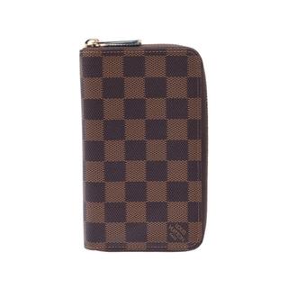 ルイヴィトン(LOUIS VUITTON)のルイヴィトン ダミエ ジッピーウォレット コンパクト 二つ折り財布 ブラウ(財布)