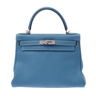 エルメス(Hermes)のエルメス ケリー 28 内縫い 2WAYバッグ ハンドバッグ ブルージーン(ハンドバッグ)