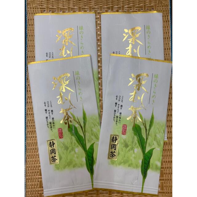 深蒸し茶 静岡茶 100g4本 食品/飲料/酒の飲料(茶)の商品写真