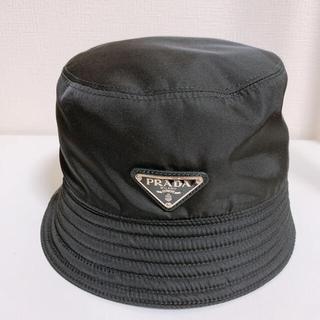 PRADA - 9月末まで終了❣️大人気 Re Nylon バケットハット  ブラック Sサイズ