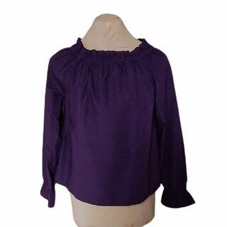 テチチ(Techichi)のテチチテラスオフショルシャーリングブラウス新品未使用フリーサイズ濃紫2WAY(シャツ/ブラウス(長袖/七分))