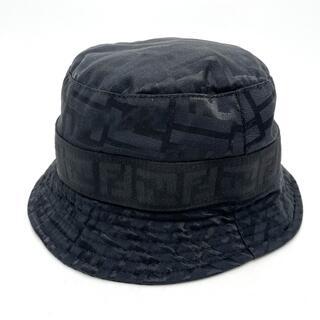 フェンディ(FENDI)のフェンディ ズッカ バケットハット ハット帽 ブラック(ハット)