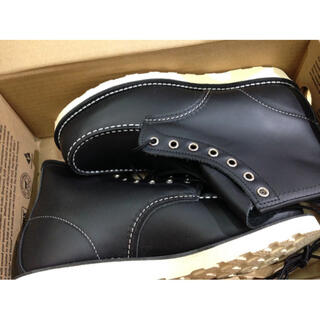 レッドウィング(REDWING)の純REDWINGレッドウィング8179黒ブラック26cm8インチ ブーツ★訳あり(ブーツ)