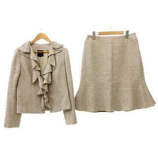 ランバン(LANVIN)のLANVIN Collection スカートスーツ 膝丈 40 ベージュ(スーツ)