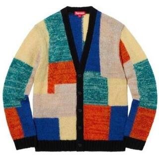 Supreme - Lサイズ Supreme Patchwork Mohair Cardigan