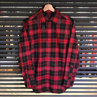 GIVENCHY - 超美品 ジバンシー スタープリント チェック柄 長袖シャツ 38 XS