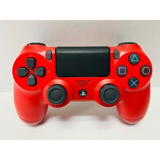 プレイステーション4(PlayStation4)の【純正】PS4 デュアルショック4 ワイヤレスコントローラー レッド(その他)