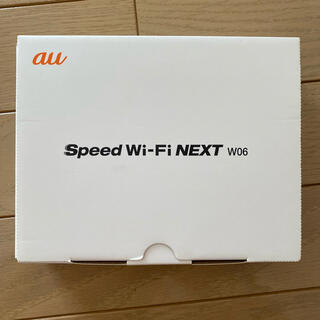 エーユー(au)のau Speed Wi-Fi NEXT W06(PC周辺機器)