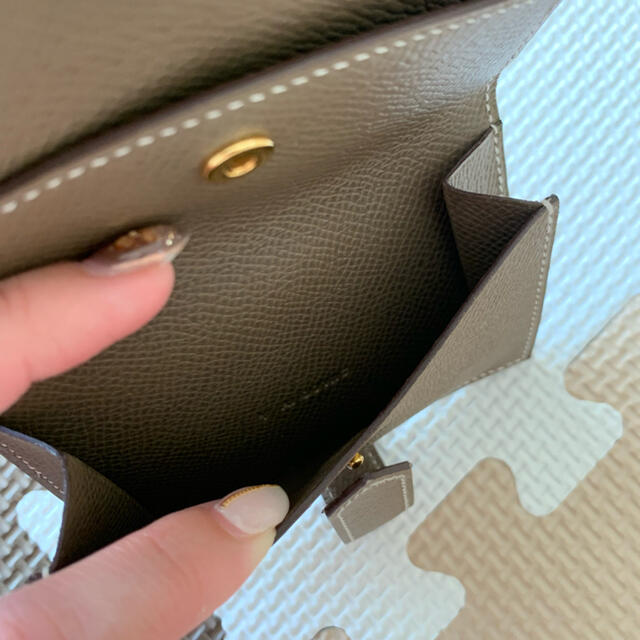 Hermes(エルメス)の【希少/極美品/正規品】HERMES エルメス ベアンミニ エトゥープ ミニ財布 レディースのファッション小物(財布)の商品写真