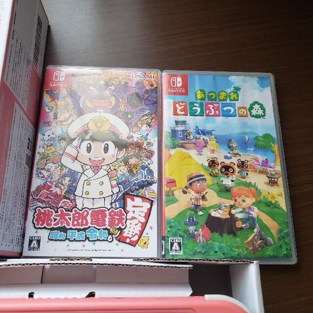 Nintendo Switch(ニンテンドースイッチ)の【ソフト付き!】任天堂SwitchLiteコーラルピンク エンタメ/ホビーのゲームソフト/ゲーム機本体(携帯用ゲーム機本体)の商品写真