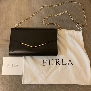Furla - 美品 保証書付き フルラ FURLA 3way チェーンバッグ 黒 チェーン