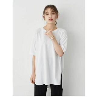 アースミュージックアンドエコロジー(earth music & ecology)のアースミュージックアンドエコロジーさんの白Tシャツ(Tシャツ(半袖/袖なし))