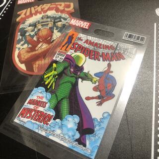 マーベル(MARVEL)のスパイダーマンステッカー 2枚(キャラクターグッズ)