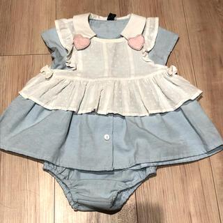 西松屋 - アリス風ワンピース パンツ 80cm