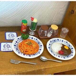 ミニチュア小物☆スパゲッティ定食とカレー定食☆セット