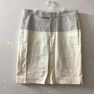 サイ(Scye)のScye サイ レディース 膝丈スカート 38  M 白系(ひざ丈スカート)