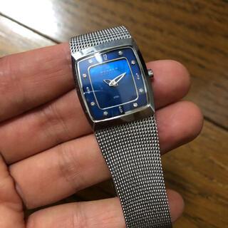 スカーゲン(SKAGEN)の腕時計 スカーゲン シルバー×ブルー ネイビー(腕時計)