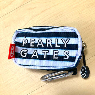 PEARLY GATES - 【美品】パーリーゲイツ 定番 ボールポーチ ボールケース ボーダー