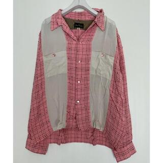 H00855 Dry Bonesドライボーンズ 日本製 配色シャツ ロカビリー