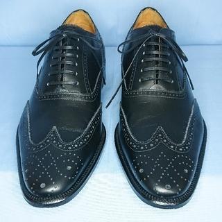 武田製靴 Anchio イタリア製フルブローグシューズ/黒/39/極美品