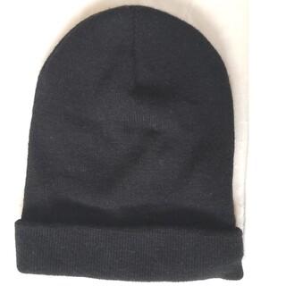 クレアーズ(claire's)の「未使用」ニット帽  黒色  ブラック(ニット帽/ビーニー)
