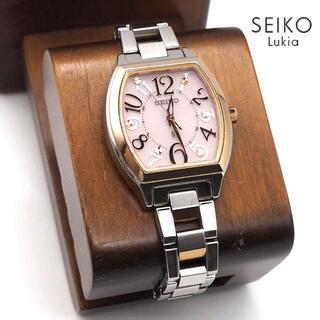 グランドセイコー(Grand Seiko)の《希少》SEIKO lukia 腕時計 ピンク ソーラー 電波 10気圧防水(腕時計)