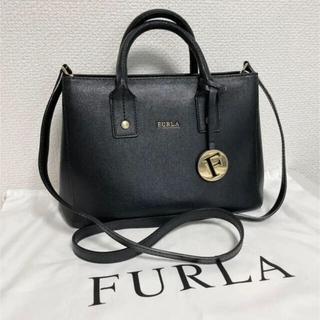 FURLA 2way ハンドバッグ ショルダーバッグ黒