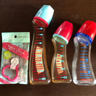 ミキハウス(mikihouse)のミキハウス ドクターベッタ 哺乳瓶 3本セット ガラス プラスチック哺乳瓶(哺乳ビン)